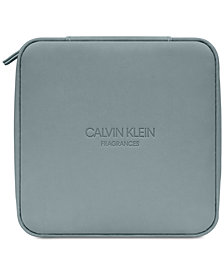 Receive a Complimentary Travel Case with any large spray purchase from the Calvin Klein Men's fragrance collection