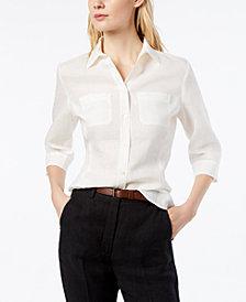 Weekend Max Mara Linen 3/4-Sleeve Shirt
