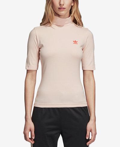adidas Originals Love Mock-Neck T-Shirt
