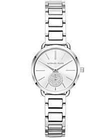 Michael Kors Women's Petite Portia Stainless Steel Bracelet Watch 28mm