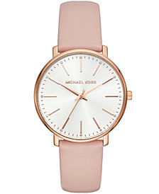 Michael Kors Women's Pyper Blush Leather Strap Watch 38mm
