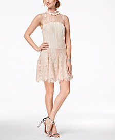 Nanette Lepore Embroidered Illusion Dress