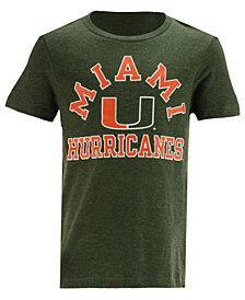 Retro Brand Miami Hurricanes Dual Blend T-Shirt, Big Boys (8-20)