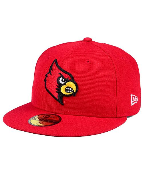 100% authentic 147c7 45fc4 ... New Era Louisville Cardinals AC 59FIFTY FITTED Cap ...