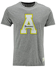 Retro Brand Men's Appalachian State Mountaineers Tri-Blend Vault Logo T-Shirt