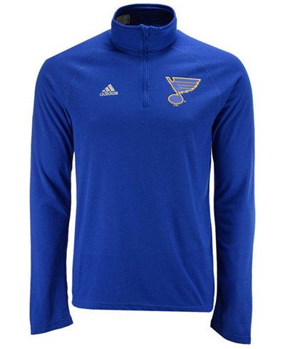 adidas Men's St. Louis Blues Left Defenseman Quarter-Zip Pullover