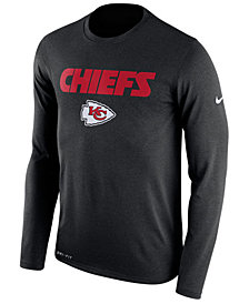 Nike Men's Kansas City Chiefs Essential Lock Up Long Sleeve T-Shirt