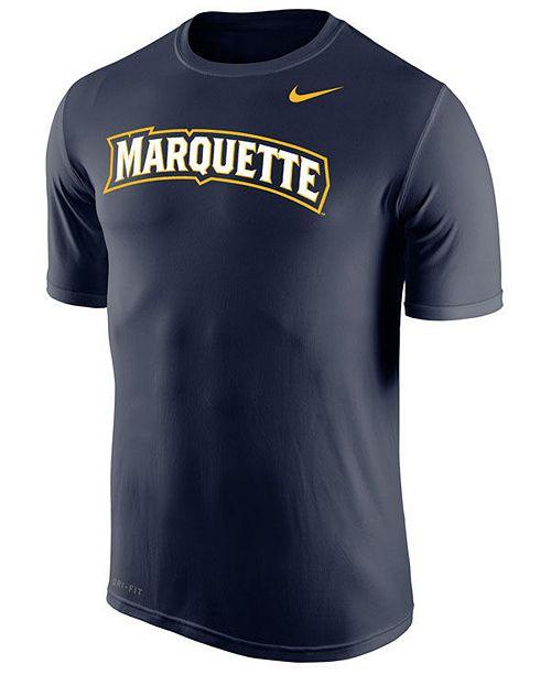 Nike Men's Marquette Golden Eagles Dri-Fit Legend Wordmark T-Shirt