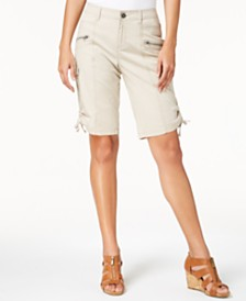 Style & Co Zipper Bermuda Cargo Shorts, Created for Macy's