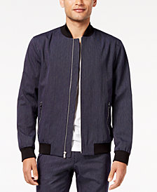 I.N.C. Men's Pinstripe Bomber Jacket, Created for Macy's