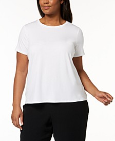 Plus Size SYSTEM Stretch Jersey T-Shirt