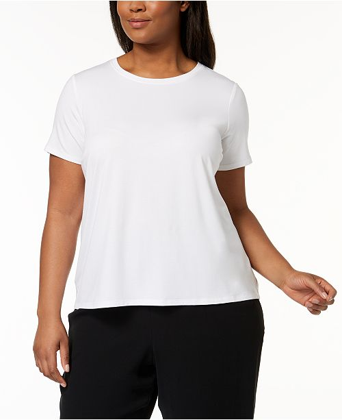Eileen Fisher Plus Size Stretch Jersey T-Shirt
