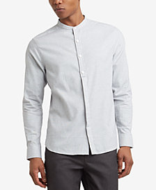 Kenneth Cole Reaction Men's Textured Micro-Check Band-Collar Shirt