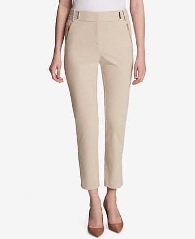 Calvin Klein Embellished Ankle Pants