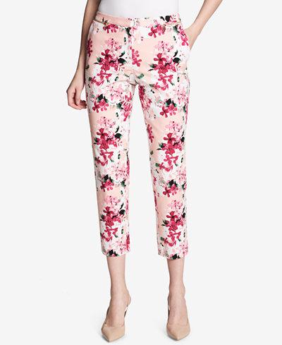 Calvin Klein Printed Cropped Pants