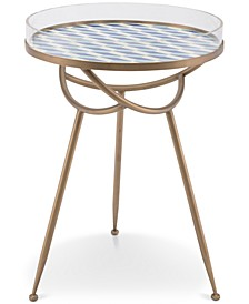Lattice Round End Table