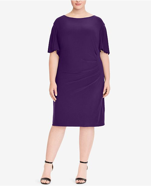 2de2b600c720 ... Lauren Ralph Lauren Plus Size Cape-Overlay Jersey Dress