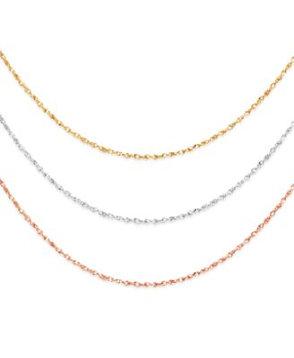 14k Gold 14k White Gold and 14k Rose Gold Necklaces 1620