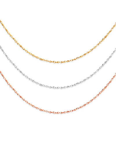 14k gold 14k white gold and 14k rose gold necklaces 16 20 14k gold 14k white gold and 14k rose gold necklaces 16 20 perfectina chain aloadofball Image collections