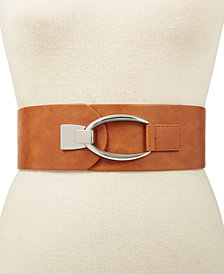 I.N.C. Interlocking-Hook Stretch Belt, Created for Macy's