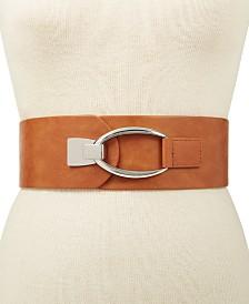 I.N.C. Interlocking-Hook Plus-Size Stretch Belt, Created for Macy's