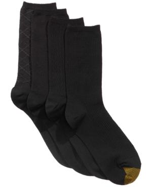 Women's 4 Pack Textured Crew Socks