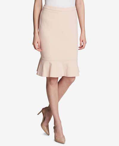 Calvin Klein Flare-Hem Pencil Skirt