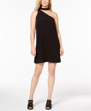 KENSIE ONE-SHOULDER SHIFT DRESS