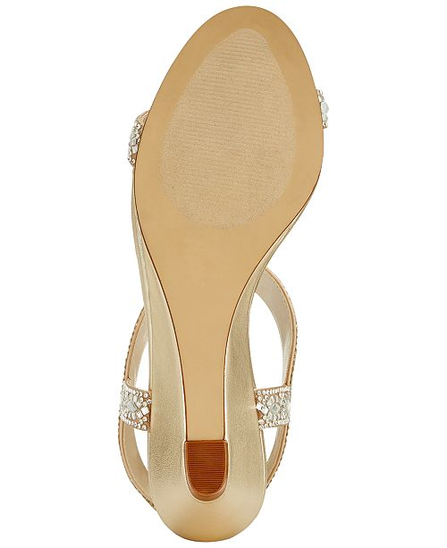 31edd41a3fe9 Caparros Lala Embellished Evening Wedge Sandals   Reviews - Sandals ...