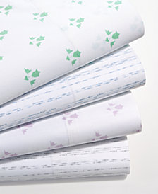 Martha Stewart Collection Organic Printed 300 Thread Count GOTS Certified Sheet Sets, Created for Macy's
