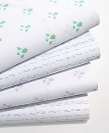 CLOSEOUT! Martha Stewart Collection Organic Printed 300 Thread Count GOTS Certified Sheet Sets, Created for Macy's