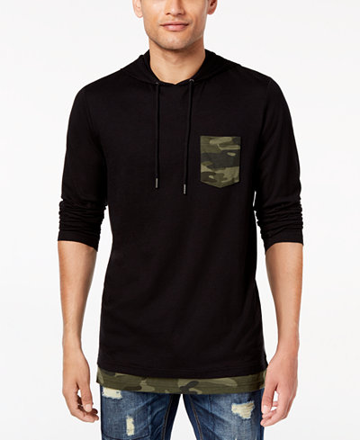 American Rag Men's Camo-Trim Hoodie, Created for Macy's