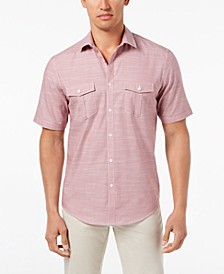 Men's Warren Textured Short Sleeve Shirt, Created for Macy's