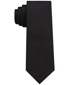 DKNY Men's Micro Dash Silk Slim Tie