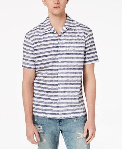 American Rag Men's Watercolor Stripe Shirt, Created for Macy's