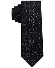 DKNY Men's High Rise Silk Slim Tie