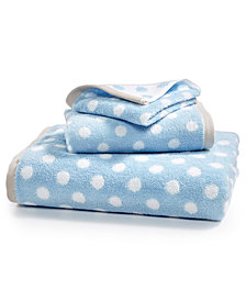 Martha Stewart Collection Cotton Dot Spa Fashion Hand Towel, Created for Macy's