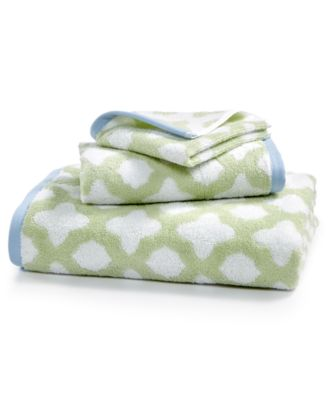 Cotton Tile Spa Fashion Wash Towel, Created for Macy's
