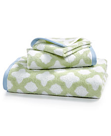 Martha Stewart Collection Cotton Tile Spa Fashion Bath Towel, Created for Macy's