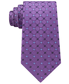 Club Room Men's Diamond Silk Tie, Created for Macy's