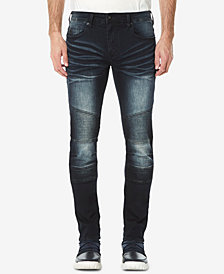 Buffalo David Bitton Men's Max-X Skinny-Fit Stretch Moto Jeans