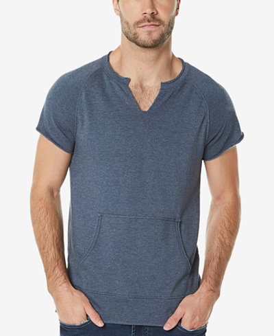 Buffalo David Bitton Men's Split-Neck Short-Sleeve Sweatshirt