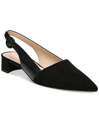e9863299913 Franco Sarto Vellez Pointed-Toe Slingback kitten heel Pumps   Reviews -  Pumps - Shoes - Macy s