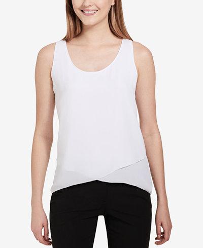 Calvin Klein Layered Asymmetrical Top
