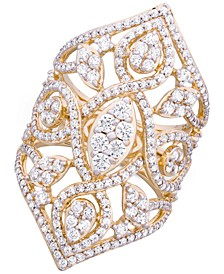 Diamond Openwork Statement Ring (2 ct. t.w.) in 14k Gold, Created for Macy's