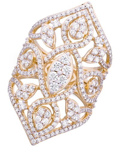 Wrapped in Love™ Diamond Openwork Statement Ring (2 ct. t.w.) in 14k Gold, Created for Macy's