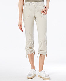 I.N.C. Curvy-Fit Studded Cargo Pants, Created for Macy's