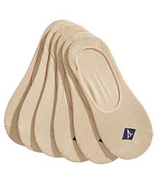 Men's Socks 6-Pack, Solid Canoe Liners