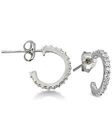 Giani Bernini Cubic Zirconia Hoop Earrings in Sterling Silver, Created for Macy's