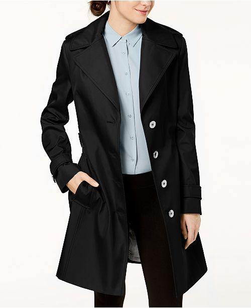 80105acaefe0b Calvin Klein Petite Belted Hooded Trench Coat   Reviews - Coats ...
